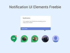 Notification UI Elements by Dolichocephalist