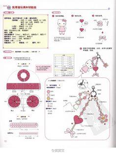 粉6 (982×1300) Crochet Crafts, Knit Crochet, Crochet Bags, Crochet Patterns Amigurumi, Crochet Flowers, Hand Knitting, Tatting, Diy And Crafts, Hello Kitty
