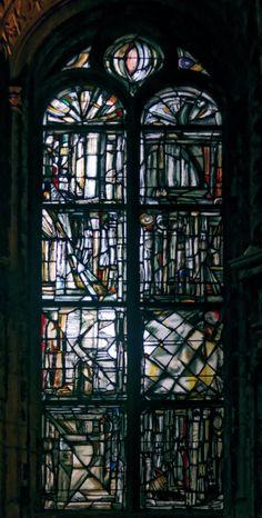 (Vitrail) Vitraux de l'église Saint-Jacques à Reims dans la Marne