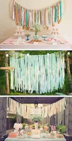 DIY wedding fabric strips ~ wedding ideas - Want That Wedding ~ A UK & International Wedding Blog