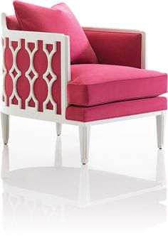 This exposed wood chair in white #lacquer with hot #pink velvet caught my eye for my daughter's bedroom but it hit my #stylespotter radar when I found out some lucky fan will actually win it & all 4 a great cause! In honor of Breast Cancer Awareness month Caracole is accepting donations to benefit Carolina Cancer Services. www.caracole.com. The winner of a random drawing will receive this top selling chair, The Bees Knee's, in a special marriage of pink and white. Caracole IHFC #hpmkt