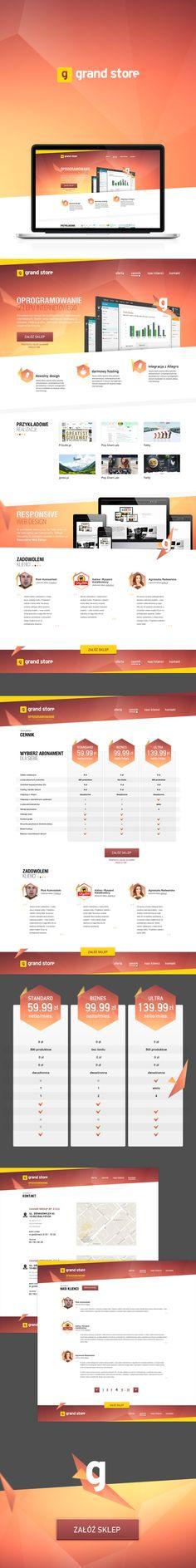 Web design. Logo and design for GrandStore.