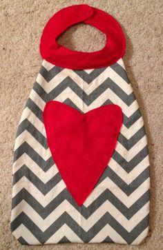 cupid valentine cape. love. valentines day. capes. cupids arrow. chevron. children.. $20.00, via Etsy.