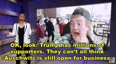 Bee showed some clips from various Trump rallies, highlighting how some of his supporters behaved… | Samantha Bee Interviewed Supporters Of Donald Trump And It Was Interesting
