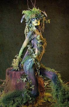 Forest Girl by Alabama Photos - People Fashion ( fashion, tree, wood, forest, body paint )
