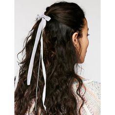 Charlotte Velvet Hair Tie ($12) ❤ liked on Polyvore featuring accessories, hair accessories, hair, bow hair tie, free people hair ties, free people hair accessories, ponytail ties and hair ties
