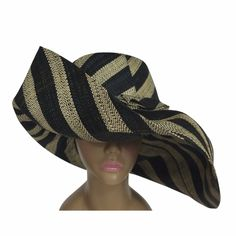 Explore our collection of black and natural big brim raffia sun hats. Imported from Africa for you. Perfect for your next cruise, vacation, festival, church service, derby party or any other occasion where you want to look stylish and be protected from the sun. #madagascar #africanfashion #africanart #sunhat...