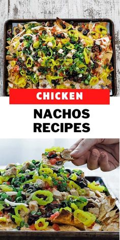 This loaded chicken nachos recipe is jam packed with an easy to make asiago cheese sauce, mozzarella, chicken and delicious toppings for the most amazing nacho recipe ever! Loaded Chicken Nachos Recipe, Easy Chicken Recipes, Asiago Cheese, Cheese Sauce, Grilled Chicken, Baked Chicken, Italian Recipes, Mexican Food Recipes, Mozzarella Chicken