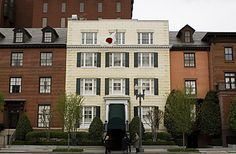 This is the Blair house, were the presidents guest stay while visiting the White House. This house was purchased in 1942.