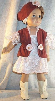 "Doll Clothes Girl fits 18"" inch Steampunk Ensemble 4pcs Rust Peach New #DressYourDollinStyle"