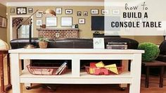 Console Table tutorial