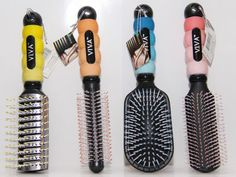 4 Pack Hairbrushes NEW Styles & Colors Hair Brush Selection (4 per one order)