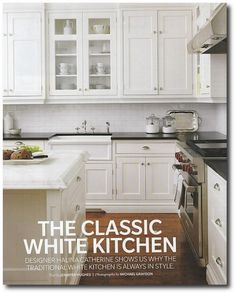 Classic white cabinets! Yours are going to look great when you're done, @Jaimie Norene Gilmour ! At some point you should do some glass doors on one of them!