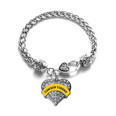 Towson University Tigers Bead Fits Most European Style Charm Bracelets