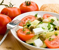 Take a break from the heat with this diabetic recipe. Combining tomatoes and cucumber with olives, feta, and olive make this meal a masterpiece.