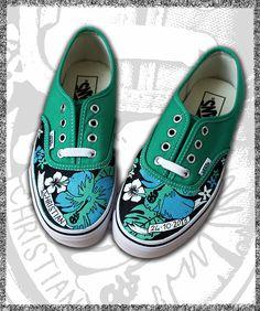 scarpe personalizzate, converse, vans dipinte a mano - Pezzi unici | Vans