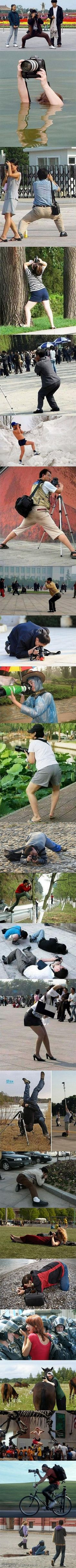 photographers' poses...LOL! I would hurt you if you ever posed like this @shacoy steele Parra - It's all about the angle!!