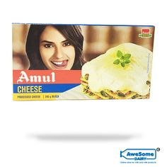 Shop for Small Pack of Cheese Block on Awesome Dairy, Now Cash on Delivery Available, Amul Cheese Buy Online with Door Step Delivery in Mumbai Easily. Cheese Online, Milk Products, Eating Alone, Beverage, Dairy, Vegetarian, India, Canning, Nature