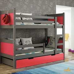 "See our web site for even more information on ""bunk bed designs boys"". It is actually an outstanding place to get more information. Metal Bunk Beds, Modern Bunk Beds, Cool Bunk Beds, Kids Bunk Beds, Kids Bedroom Designs, Bunk Bed Designs, Bedroom Bed Design, Bedroom Decor, Double Deck Bed Design"