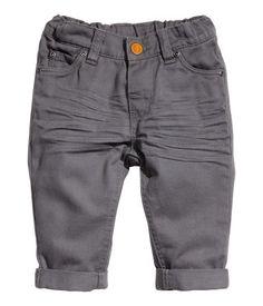 Dark Gray Twill Baby Boy Pants | H US