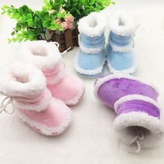 Geek | Toddler Kids Baby Boots Soft Bottom Crib Shoes Infant Girls Winter Warm Booties