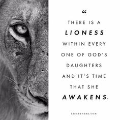 To all my lioness sisters who feel something wild, fierce and beautiful stirring within them, don't be afraid of your strength, questions or insights. WAKE UP and DARE to realize all God created you to be. Quote Tattoos Girls, Girl Quotes, Woman Quotes, Tattoo Quotes, Quotes About Strength, Faith Quotes, Lioness Quotes, Favorite Quotes, Best Quotes