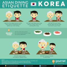 Asian Dining Etiquette Series: Dining in Korea Infographic