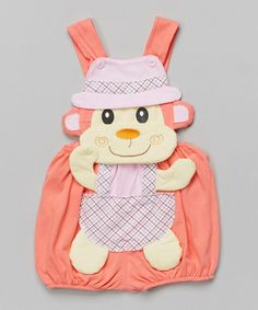 Pink & Lilac Monkey Romper - Infant