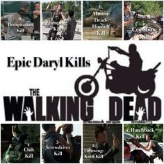Epic Daryl kills - The Walking Dead The Walking Ded, Walking Dead Funny, Walking Dead Series, Dead Pictures, Zombie Attack, Great Tv Shows, Dead Man, Daryl Dixon, Show Photos