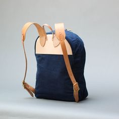 Zip Backpack - Leaf Indigo