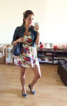 Vestido Zara, Casaca 47 Street, Balerinas PAEZ