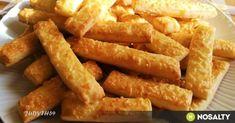Omlós, egyszerű, gyors, vajas-sajtos rudacskák recept képpel. Hozzávalók és az elkészítés részletes leírása. Az omlós, egyszerű, gyors, vajas-sajtos rudacskák elkészítési ideje: 30 perc Onion Rings, Sweet And Salty, Naan, Biscotti, Carrots, Appetizers, Chicken, Baking, Vegetables