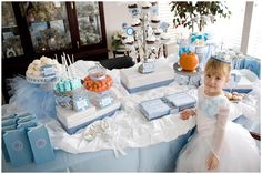 A Cinderella theme, complete with pumpkins.