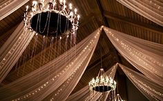 I am loving the scalloped beads draped upon the chandeliers. Magical!   A Breakdown of the Essential Wedding Day Timeline