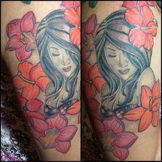 Guam girl tattoo by Hai  Instagram:tatt2byhai