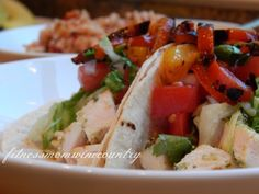 Lime Cilantro Grilled Chicken Tacos | http://fitnessmomwinecountry.com/2014/06/lime-cilantro-grilled-chicken-tacos/