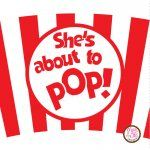 She's about to POP! printable #popcorn cupcake wrappers. Downloadable PDF. $5