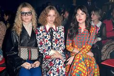 The Hollywood star Dakota Johnson joined forces with Hari Nef and Petra Collind at Gucci show during Milan Fashion Week @gucci #MFW  via NUMERO THAILAND MAGAZINE OFFICIAL INSTAGRAM - Celebrity  Fashion  Haute Couture  Advertising  Culture  Beauty  Editorial Photography  Magazine Covers  Supermodels  Runway Models