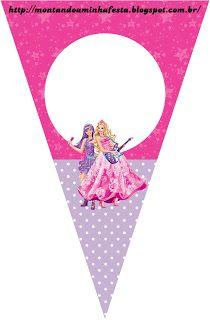 Montando a minha festa: Barbie Princesa e a Pop Star