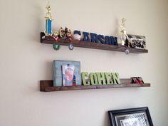 Shelves for boys room