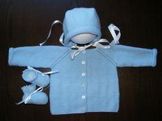 Conjunto chaqueta, gorro y patucos bebe unisex de gotitasdecielo en Etsy