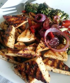 paneer, balsamic glazed paneer, grilled vegetables, grilled paneer