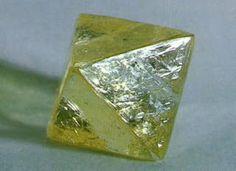 Raw diamond octahedron crystal