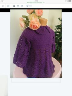 Romantic knitting dress for a princess for 12-18 mounths by bycigdem on Etsy