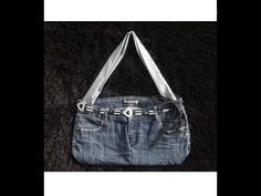 DIY: Recycle Old Jeans Into a Purse or Handbag - No Sew - YouTube