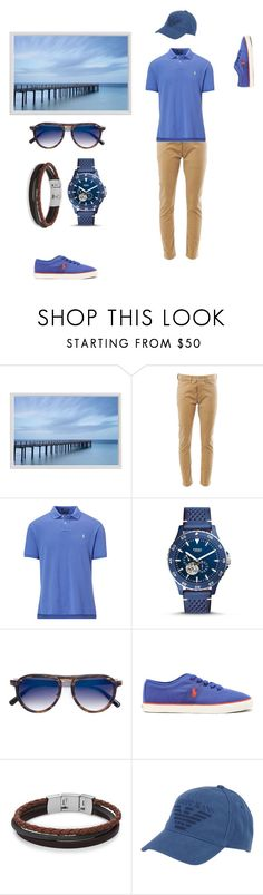 """""""Happy B'Day my LOVE"""" by lala-loveyou ❤ liked on Polyvore featuring Pottery Barn, Junya Watanabe, Ralph Lauren, FOSSIL, Over All MasterCloth (OAMC), Armani Jeans, men's fashion and menswear"""