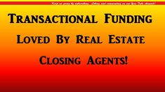 Transactional Funding Loved By Real Estate Closing Agents! Real Estate Coaching, Real Estate Investor, Wholesale Real Estate, Closer, Investing, Learning, Studying, Teaching