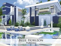 Blue Horizon house by Pralinesims at TSR • Sims 4 Updates