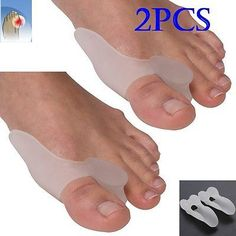 VeniCare Bunion Relief 2 Big Toe Protectors For Bunions Gel Toe Separators, Spacers, and Spreader for a perfect Toe and bunion pain relief, White Bunion Relief, Pain Relief, Gel Zehen, Gel Toe Separators, Toe Spreader, Cream For Oily Skin, Gel Toes, Hammer Toe, Cellulite Scrub