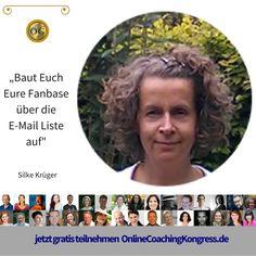 Silke Krüger ist die Marketingflüsterin. im Interview beim #OnlineCoachingKongress spricht sie davon, wie Du es schaffst, Dir Deinen Tribe aufzubauen und online erfolgreich zu sein. Verpasse das nicht und melde Dich jetzt kostenfrei an: